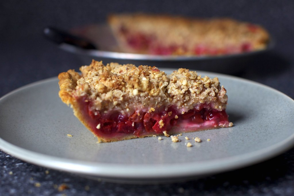 sour cherry pie slice | Sour Cherry Pie with Almond ...