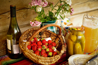 Wine, Berries & Pickles | by goingslowly