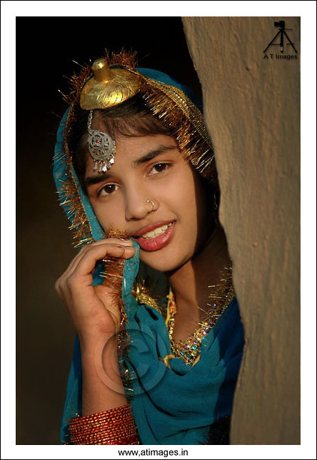 Punjaban  Punjabi Village Girl Dressed Up With Cultural -2875