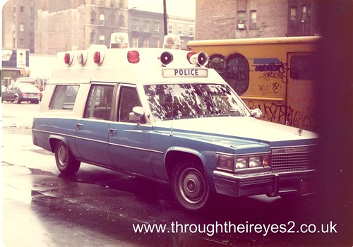 NYPD CADILLAC LOWER MANHATTEN 1980 Image From A Large
