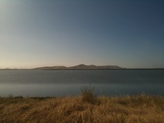 The Coyote Hills look far away