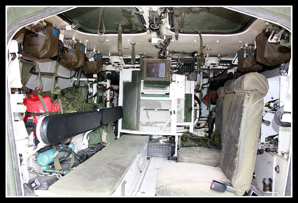 LAV III (Light Armoured Vehicle) | Inside the back of the ...