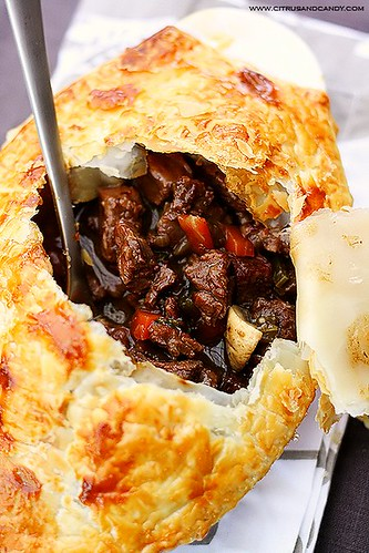 Beef and Red Wine Pot Pie with Braised Cabbage | by Citrus and Candy