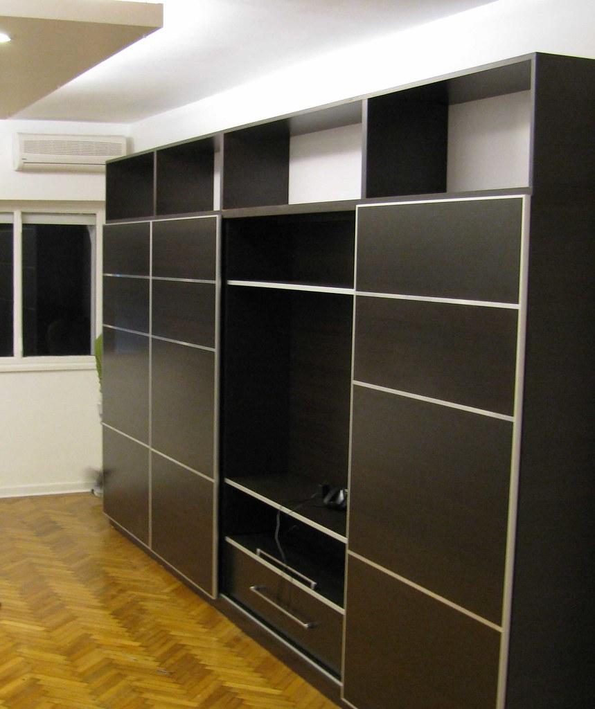 Mueble Funcional Para Living Biblioteca Y Plasma De 42 Flickr # Muebles Bibliotecas Para Living