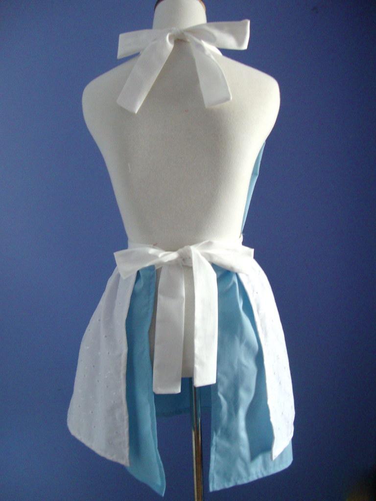 White apron alice in wonderland -  Alice In Wonderland Apron Back By Bethany_frances