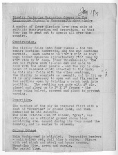 Gramophone Hammersmith Window Display - back text