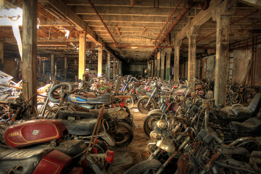 motorcycle graveyard hdr these photos are part of a