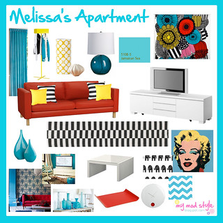 Design Board - Melissa's Apartment | by Jessie {Creating Happy}