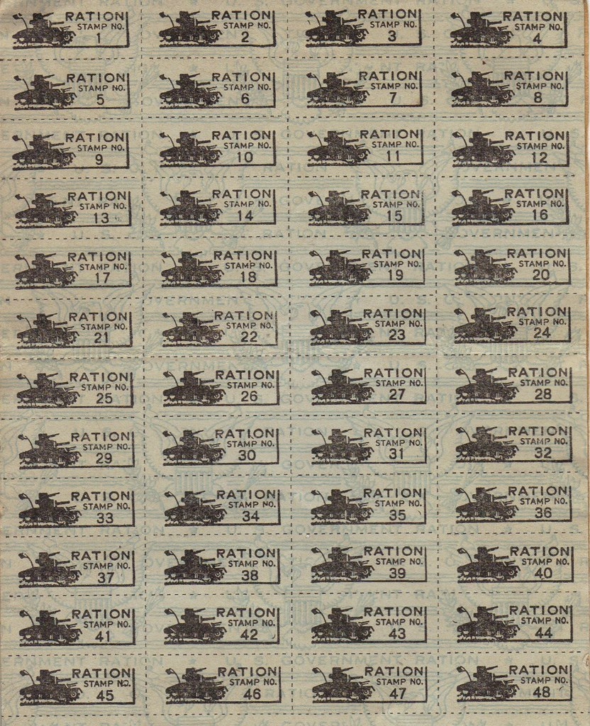 World War Ii Ration Book Three Stamps These Are The Worl Flickr