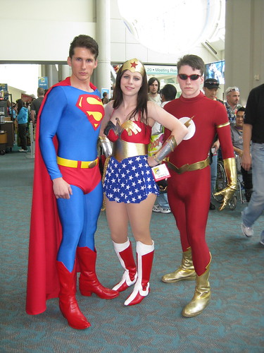 Superman Wonder Woman And The Flash I Spotted This Trio