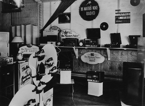 hmv goods on display in Australia - unknonw location but possibly Perth 1940s