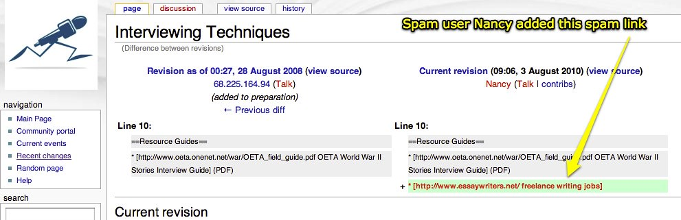 spam link on our mediawiki uploaded plasq s skitch flickr