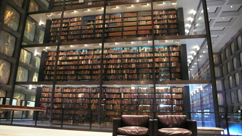 Interior of The Beinecke Rare Book and Manuscript Library ...
