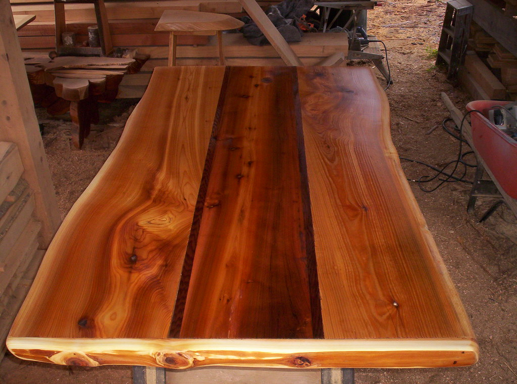 ... Live Edge Cedar Table Top | By Linkslogs