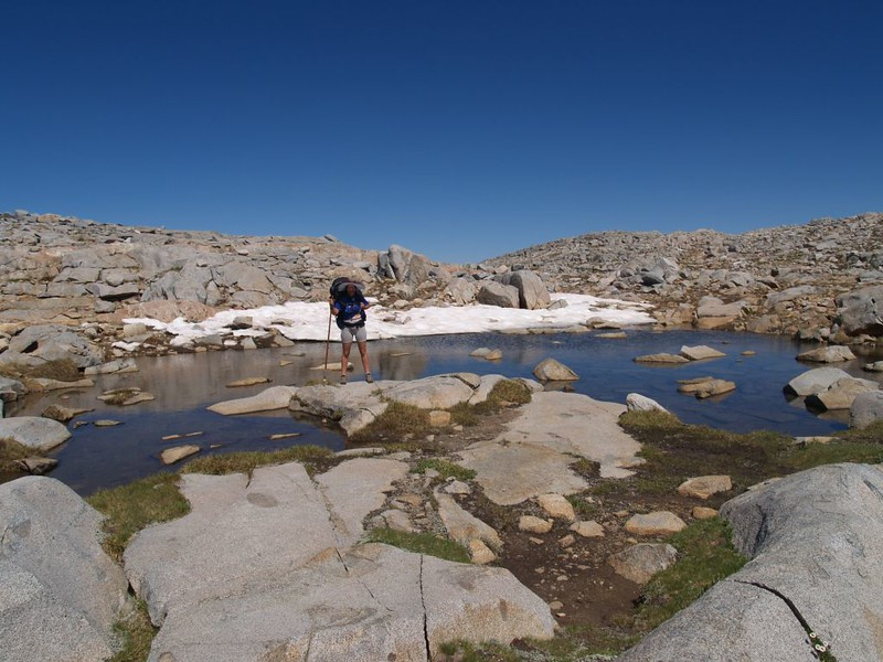 Small pond on top of Donohue Pass