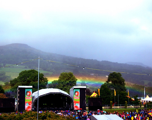 Green Man Stage Rainbow