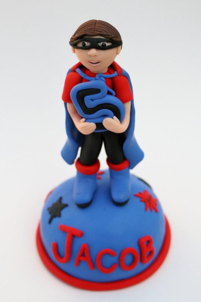 Fabulous Superhero Birthday Cake Topper This Cake Topper Can Be Per Flickr Funny Birthday Cards Online Necthendildamsfinfo