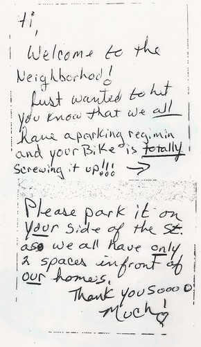 Welcome to the neighborhood. You're totally screwing it up. | by passiveaggressivenotes