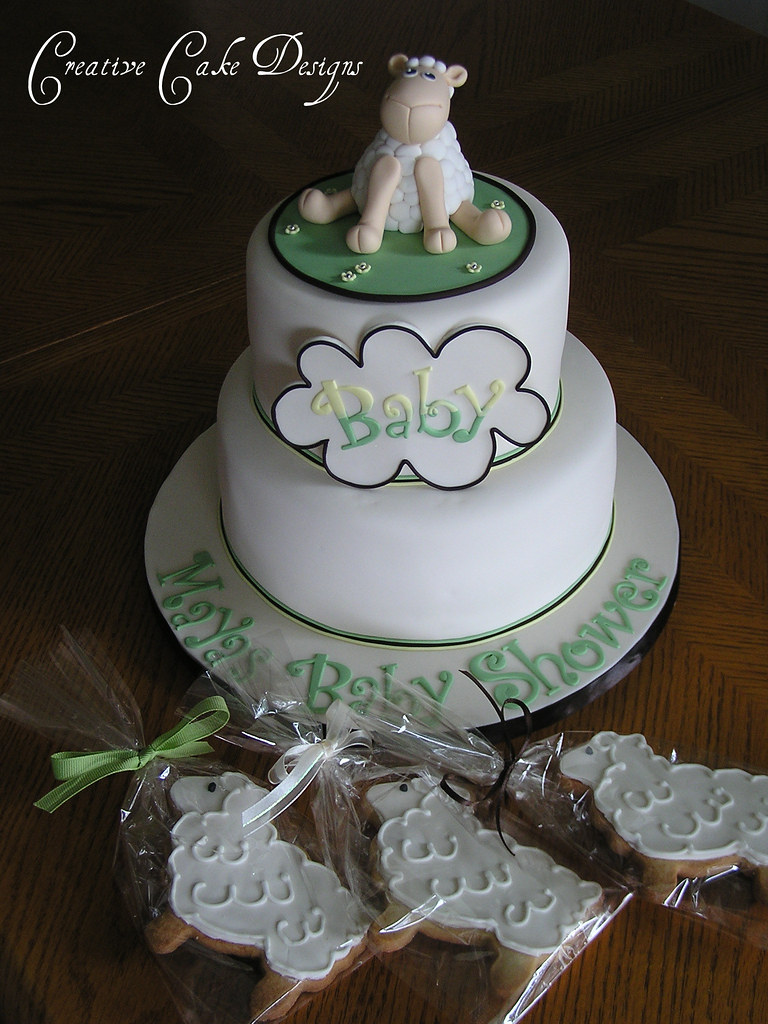 Lamb Baby Shower Cake First Cookie Order Woohoo A