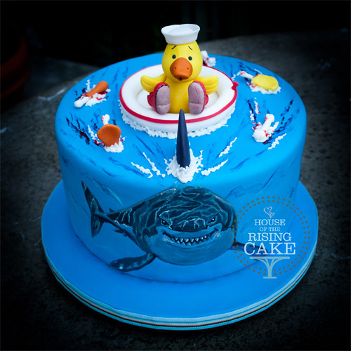Shark And Rubber Ducky Cake This Cake Was Done For My