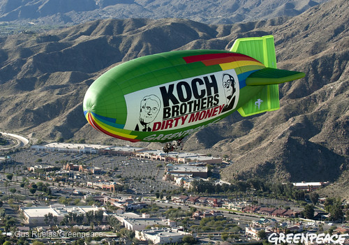 Flying Into Koch Dirty Money | by Greenpeace USA 2015