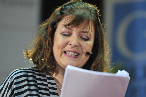 Bridget Kendall Bridget Kendall at The Forum recording at the Galle