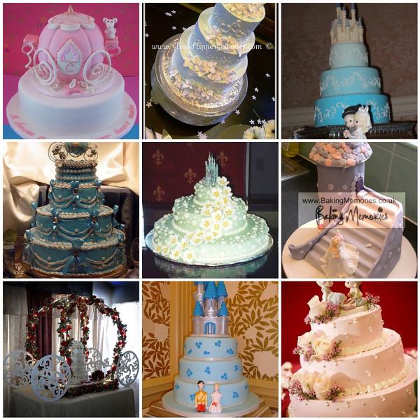 Cinderella & Castle Wedding Cakes