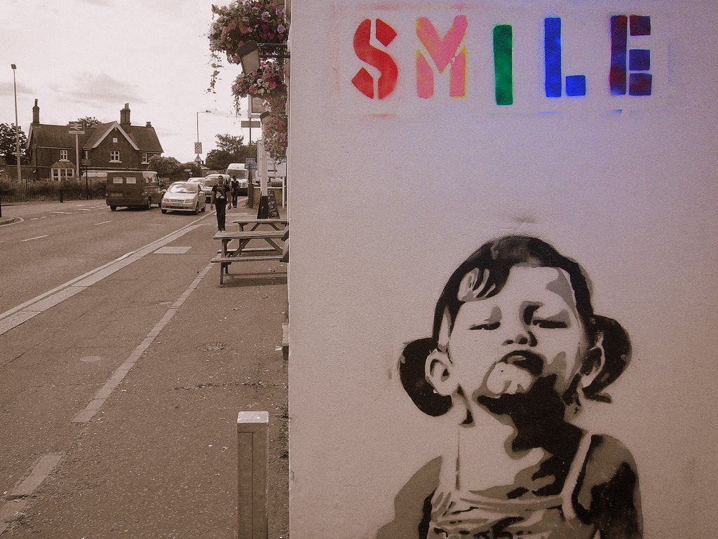 Banksy Smile | At the end of my road... only just realised ...