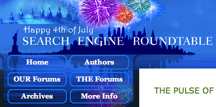 Search Engine Roundtable July 4th Logo | by rustybrick