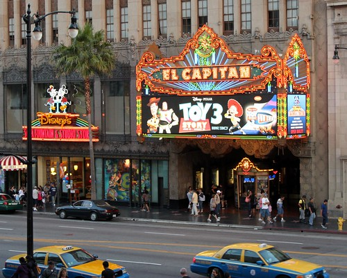 disneys el capitan theater hollywood now playing toy