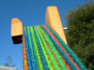 Tour de Rainbow on the skeinwinder | by Velma's World