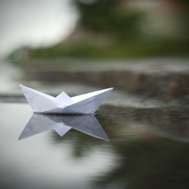 Paper Boat With Knife on The Paper Boat's Journey