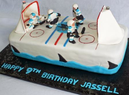 San Jose Sharks Hockey Rink 9th Birthday Cake Jeanne Flickr