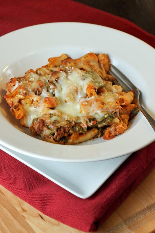 Lasagna-style Baked Ziti | Recipe Here | Emily Carlin | Flickr