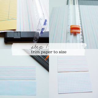 Little Library Card Notebooks - Step 1 | by packagery