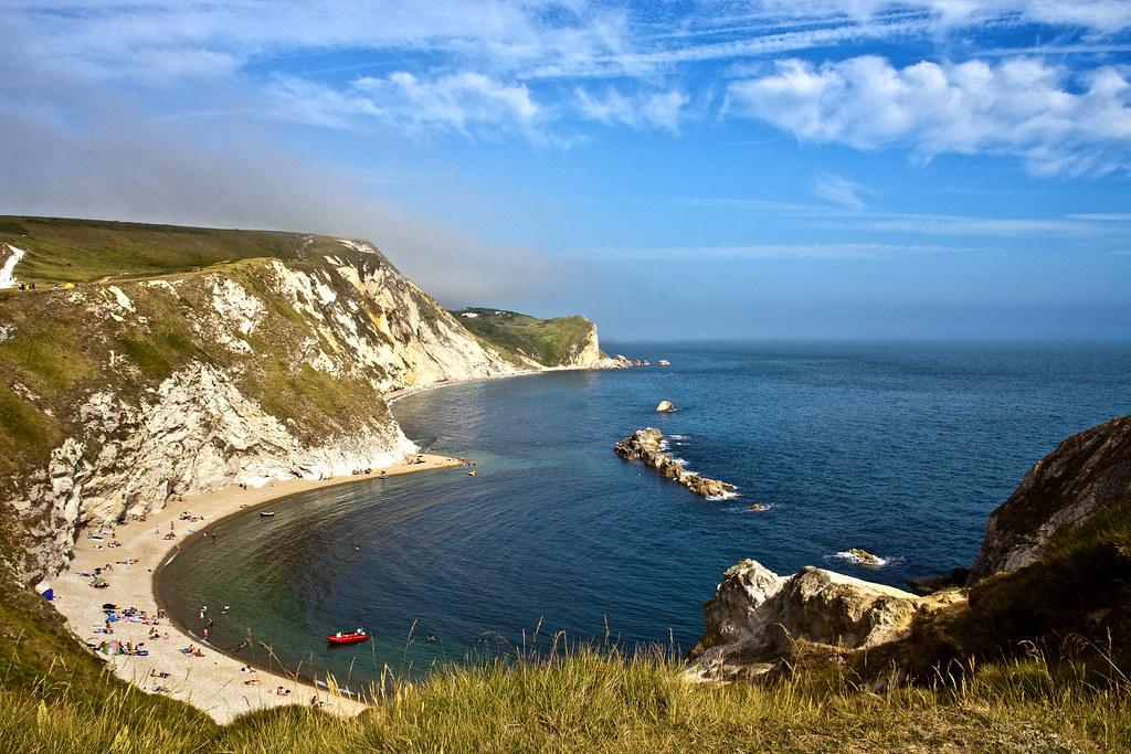 Jurassic Coast Near West Lulworth In Dorset England File