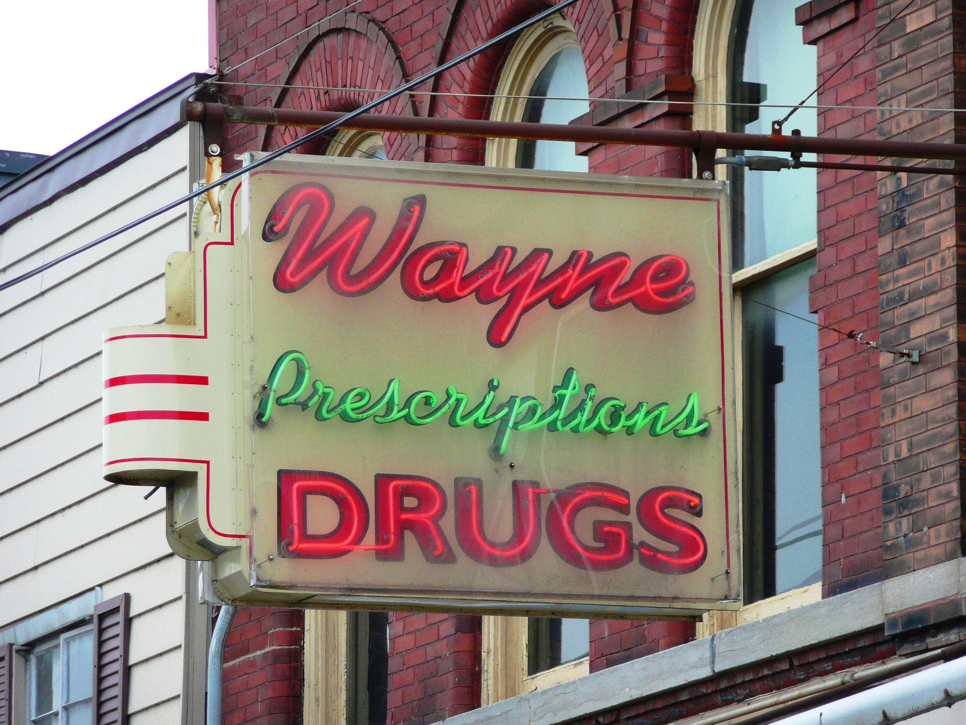 Wayne Drugs - 24 West Bridge Street, Oswego, New York, U.S.A. - July 9, 2010