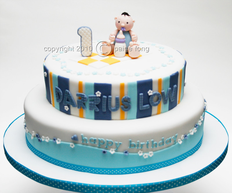 Baby Boy Blue Birthday Cake  Paige Fong  Flickr