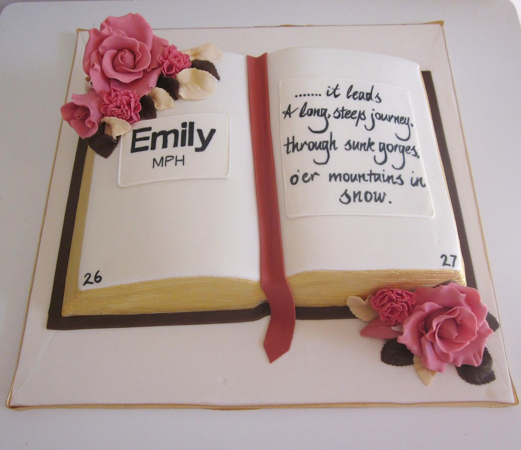 Cake Designs Book Shape : Graduation book cake. Hand carved book cake made for a ...