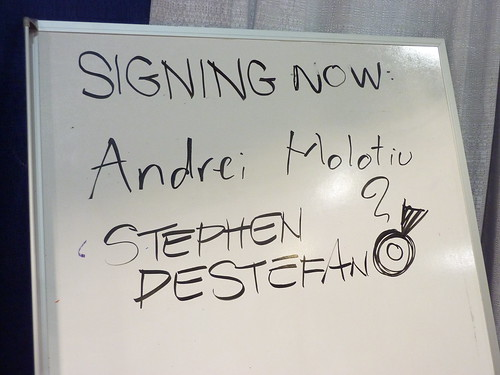 Andrei Molotiu & Stephen DeStefano signed in - Fantagraphics at Comic-Con 2010 | by fantagraphics