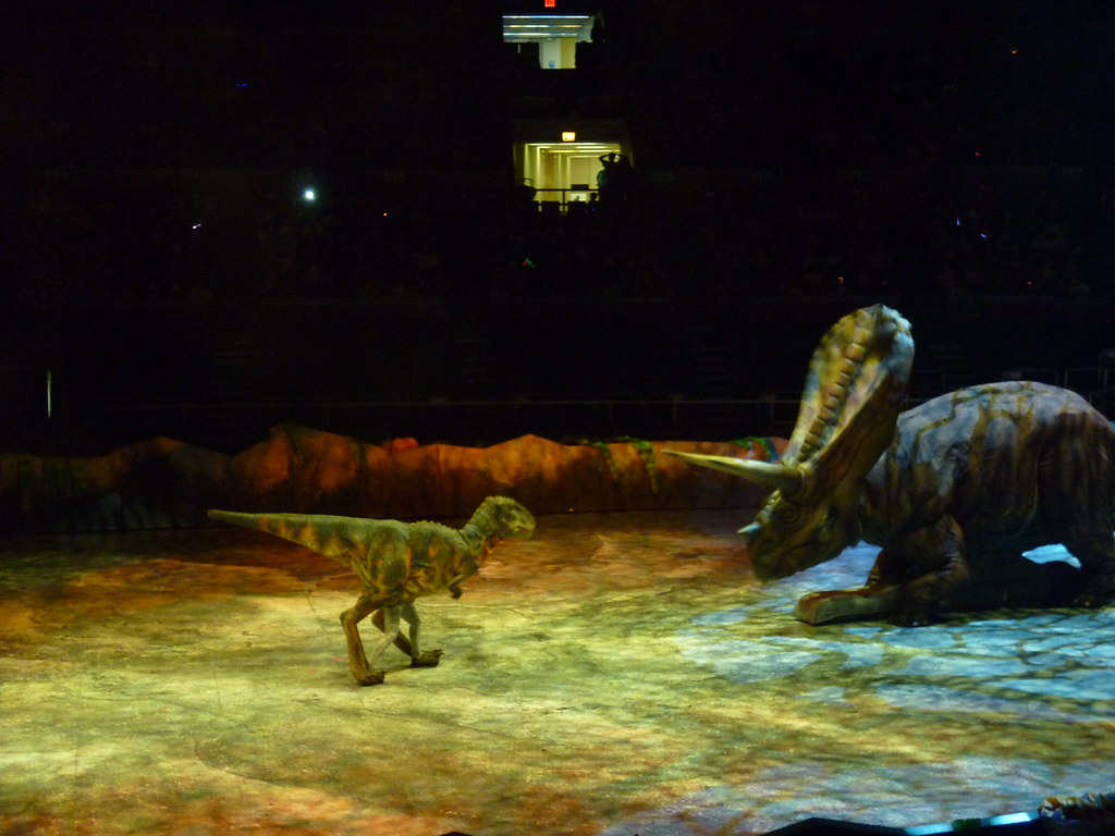Walking With Dinosaurs Baby T Rex Versus Torosaurus Flickr