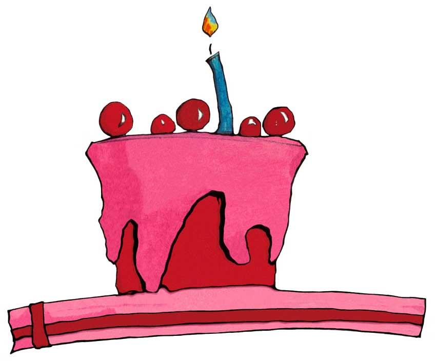 24 Red Pink Cake