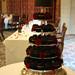 Chocolate & Red Rose Wedding Cupcake Tower