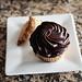 Boston creme cupcake