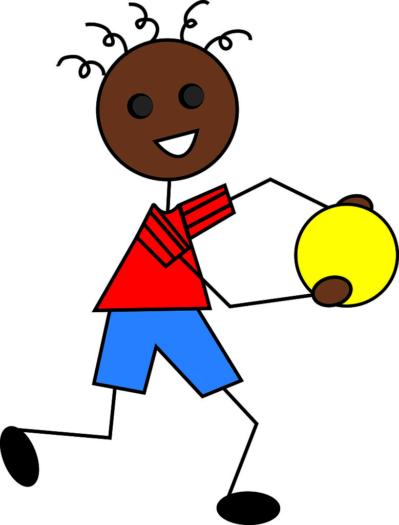 Clip Art Illustration of a Cartoon African American Boy Pl… | Flickr