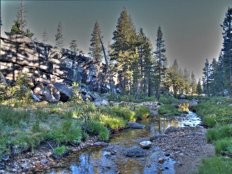HDR photo looking downstream in Rafferty Canyon