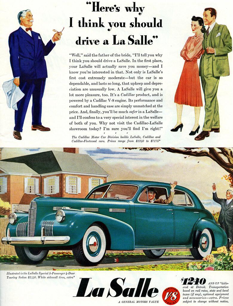 1940 La Salle Special 5-Passenger 4-Door Touring Sedan