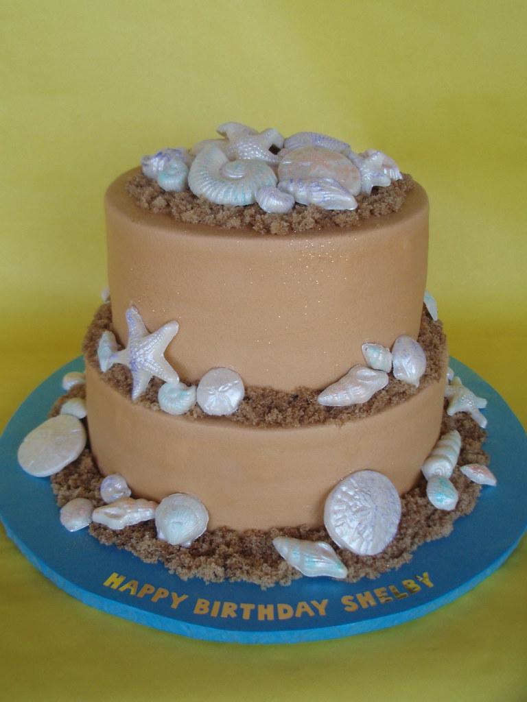 Beach House Birthday Cake