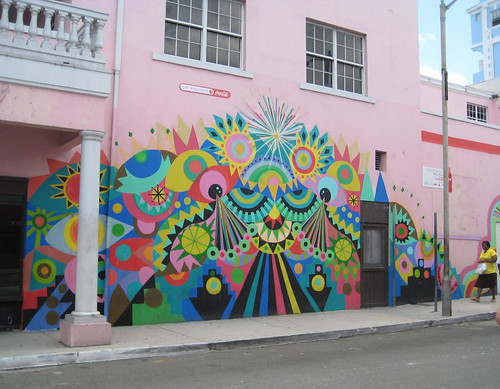 Ga ga ga gorgeous mural in downtown nassau sarahtomorrow for 6 blocks from downtown mural