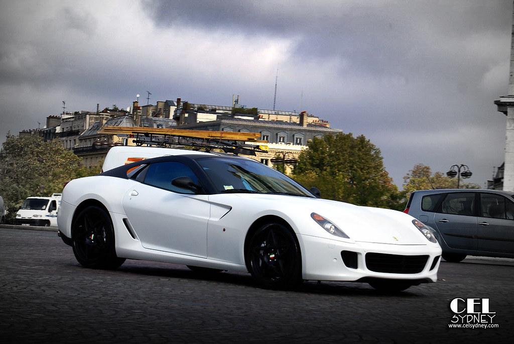 matte white black ferrari 599 gtb fiorano by celsydney - Matte Black Ferrari 599